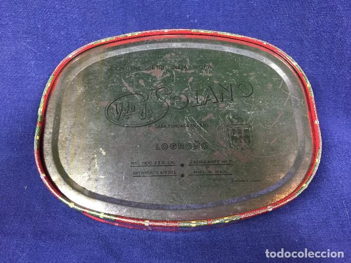 Cajas y cajitas metálicas: antigua caja metálica viuda de solano surtido nata moka casa fundada en 1830 - Foto 8 - 146228530