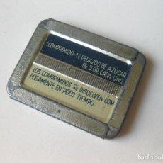 Cajas y cajitas metálicas: CAJA DE LATA DE 500 COMPRIMIDOS DE SACARINA CRISTALIZADA HERMESETAS - FARMACIA. Lote 146388102