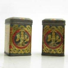 Cajas y cajitas metálicas: LOTE DE 4 CAJITAS DE PURÉ SALSA VALLS. 5,5X3,5CM. Lote 146510426