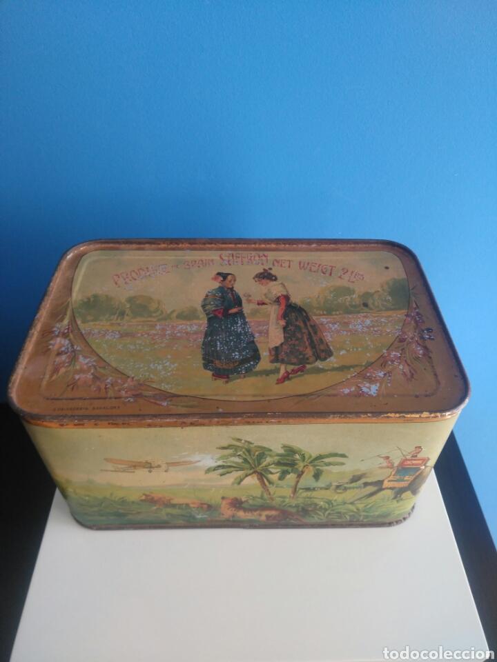 Cajas y cajitas metálicas: Preciosa y dificil caja metalica Mixed Saffron. G. De andreis Badalona 1920. - Foto 2 - 146648492