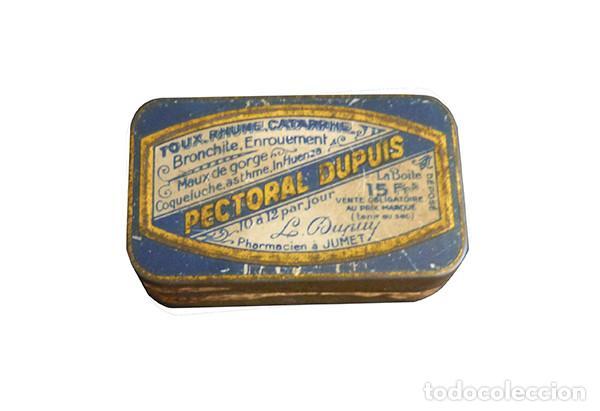 Cajas y cajitas metálicas: Caja metálica de pastillas para la tos Pectoral Dupuis - Foto 2 - 147187754
