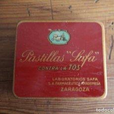 Cajas y cajitas metálicas: CAJA PASTILLAS SAFA,CONTRA LA TOS.. Lote 147380806