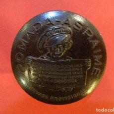 Cajas y cajitas metálicas: POMADA ASPAIME. CAJA DE BAQUELITA ORIGINAL MUY ANTIGUA. FARMACIA AÑOS 1930S. Lote 147465194