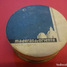 Cajas y cajitas metálicas: POLVERA. MADERAS DE ORIENTE. SIN USO. MYRURGIA. Lote 147465738