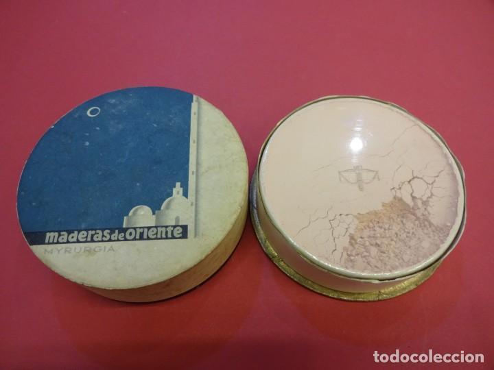 Cajas y cajitas metálicas: Polvera. MADERAS DE ORIENTE. Sin uso. MYRURGIA - Foto 2 - 147465738