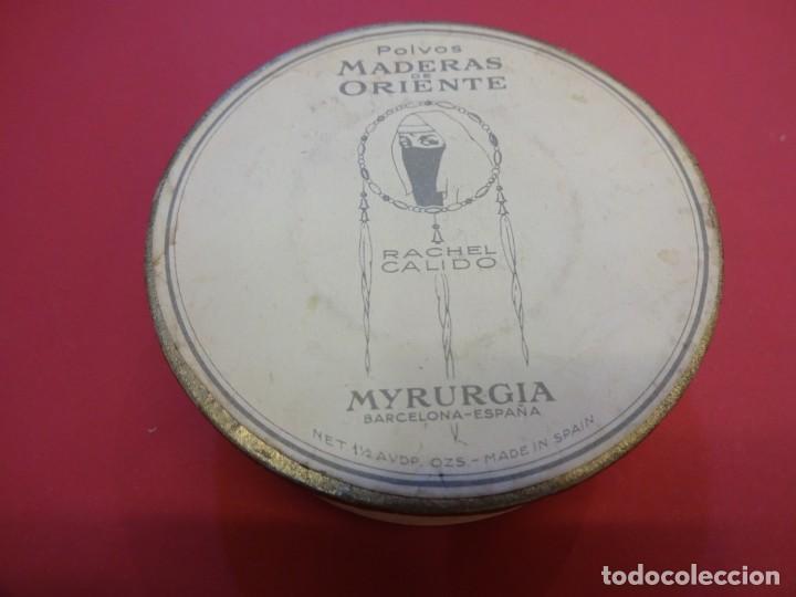 Cajas y cajitas metálicas: Polvera. MADERAS DE ORIENTE. Sin uso. MYRURGIA - Foto 3 - 147465738
