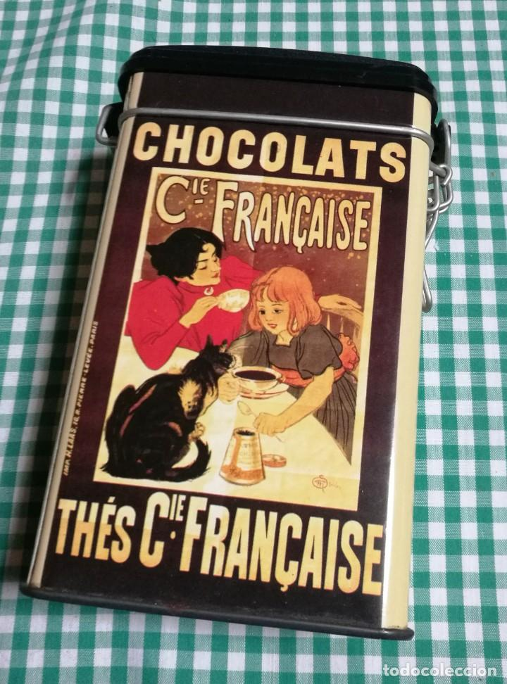 LATA CHOCOLATS/THÈS-CIE.FRANÇAISE (Coleccionismo - Cajas y Cajitas Metálicas)