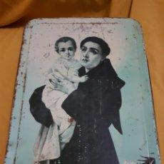 Cajas y cajitas metálicas: LATA MEMBRILLO SAN ANTONIO PUENTE GENIL. Lote 147604808