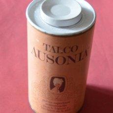 Cajas y cajitas metálicas: ANTIGUO BOTE GRANDE DE TALCO AUSONIA CON ALGO DE PRODUCTO - FARMACIA. Lote 147714498