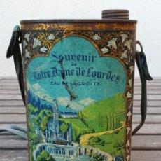 Cajas y cajitas metálicas: SUVENIR (SOUVENIR) NOTRE DAME DE LOURDES EAU DE LA GROTTE (FRANCES). Lote 147753306