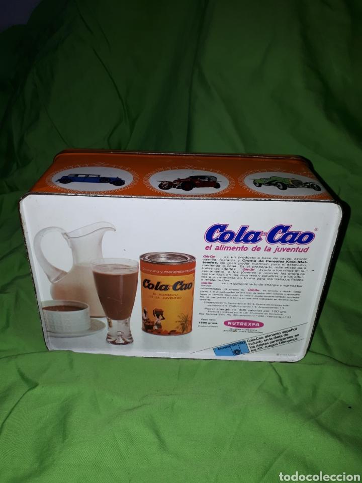 Cajas y cajitas metálicas: Antigua caja COCHE DARRACQ 1902 Colacao cola cao - Foto 4 - 147773818