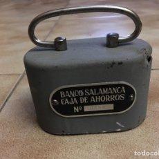 Cajas y cajitas metálicas: HUCHA BANCO DE SALAMANCA CAJA DE AHORROS. Lote 147784430