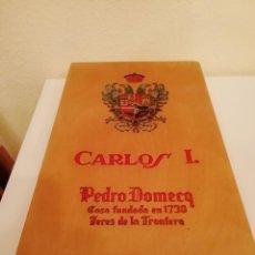 Cajas y cajitas metálicas: CAJA DE MADERA CARLOS I - PEDRO DOMECQ (VACIA). Lote 147789018