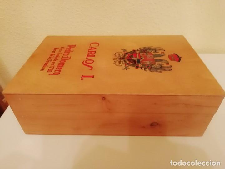 Blechdosen und Kisten: CAJA DE MADERA CARLOS I - Pedro Domecq (VACIA) - Foto 5 - 147789018