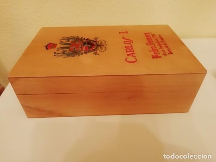 Blechdosen und Kisten: CAJA DE MADERA CARLOS I - Pedro Domecq (VACIA) - Foto 6 - 147789018