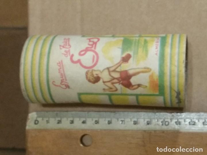 ANTIGUO BOTE DE ESPUMA DE TALCO *EROS* DE ALMERIA (Coleccionismo - Cajas y Cajitas Metálicas)