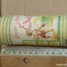 Cajas y cajitas metálicas: ANTIGUO BOTE DE ESPUMA DE TALCO *EROS* DE ALMERIA. Lote 148346070