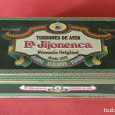 Cajas y cajitas metálicas: LA JIJONENCA - CAJA DE METAL DE TURRON. Lote 148434114
