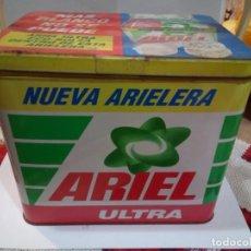 Cajas y cajitas metálicas: BOTE METÁLICO PUBLICIDAD DE ARIEL ULTRA. Lote 176505972