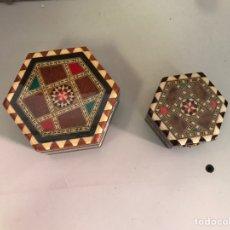 Cajas y cajitas metálicas: CAJA JOYERO MARQUETERÍA. Lote 149398354