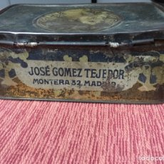 Cajas y cajitas metálicas: CAJA METALICA JOSE GOMEZ TEJEDOR. Lote 149545206