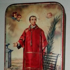 Cajas y cajitas metálicas: CAJA MEMBRILLO SAN LORENZO PUENTE GENIL. Lote 149610278