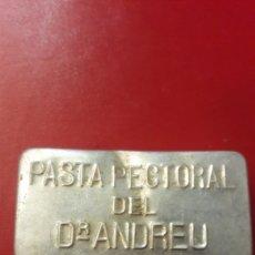 Cajas y cajitas metálicas: CAJITA PASTA PECTORAL DEL D ANDREU. Lote 149611694