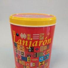 Cajas y cajitas metálicas: CAJA - LATA LANJARON ROJA. Lote 149675750