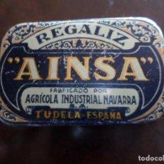 Cajas y cajitas metálicas: CAJA METALICA DE REGALIZ TUDELA NAVARRA. Lote 149980686