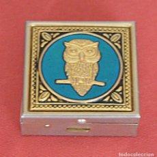 Cajas y cajitas metálicas: BUHO - CAJITA METAL - PASTILLERO. Lote 150230222