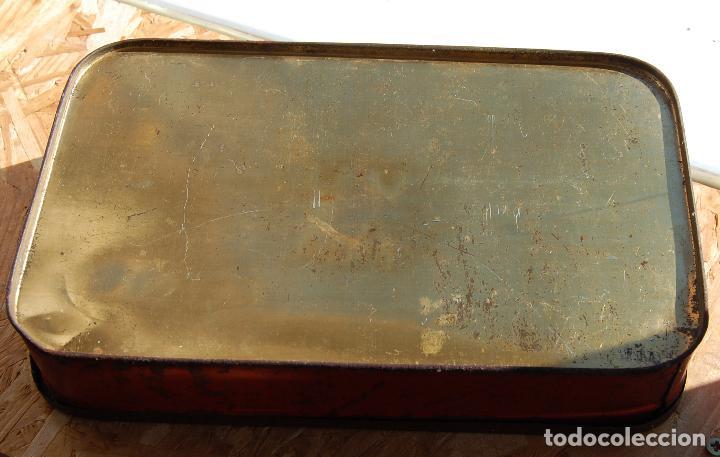 Cajas y cajitas metálicas: CAJA DE CHAPA LATA JUSTO ESTRADA HARO PUENTE GENIL // FÁBRIcA DE CARNE MEMBRILLO, JALEAS CONSERVAS - Foto 3 - 150309538