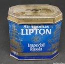 Cajas y cajitas metálicas: ANTIGUA LATA METAL - LIPTON IMPERIAL RUSSIA - CAR01. Lote 150760101
