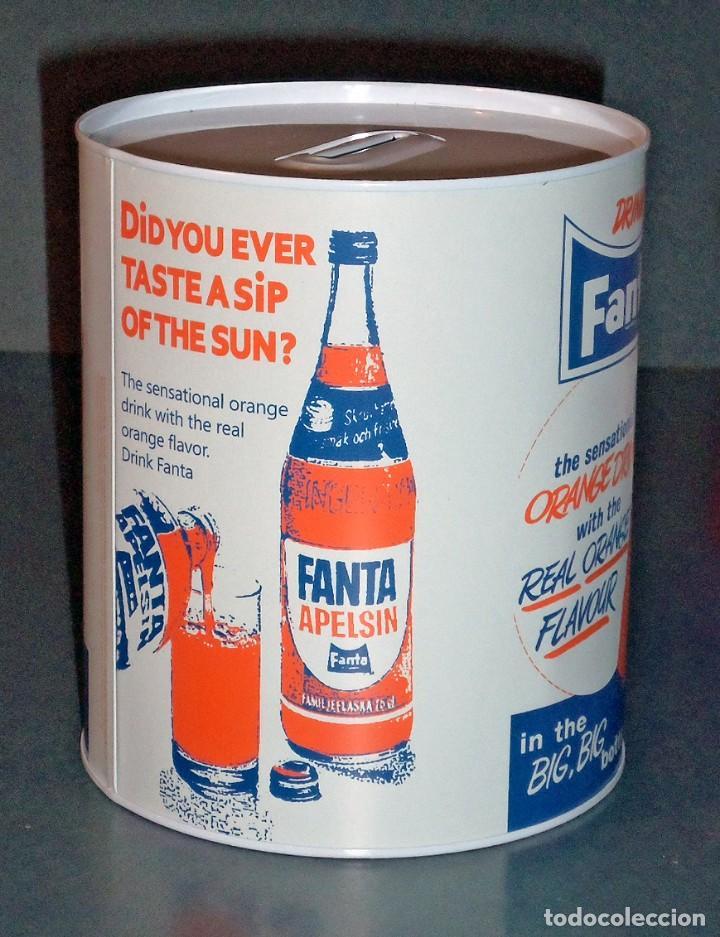 Cajas y cajitas metálicas: Hucha retro FANTA (Tamaño Pequeño) - Foto 2 - 151604018