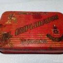 Cajas y cajitas metálicas: CAJA METALICA EL EXPLORADOR LOGROÑO PASTILLAS DE CAFÉ Y LECHE (MANUEL MUGABURU LOGROÑO). Lote 151606390