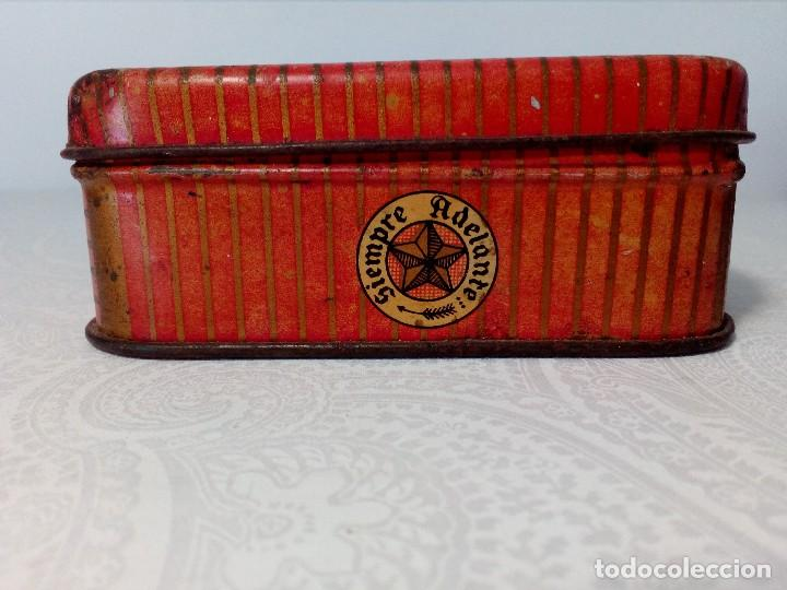 Cajas y cajitas metálicas: CAJA METALICA EL EXPLORADOR LOGROÑO PASTILLAS DE CAFÉ Y LECHE (MANUEL MUGABURU LOGROÑO) - Foto 5 - 151606390