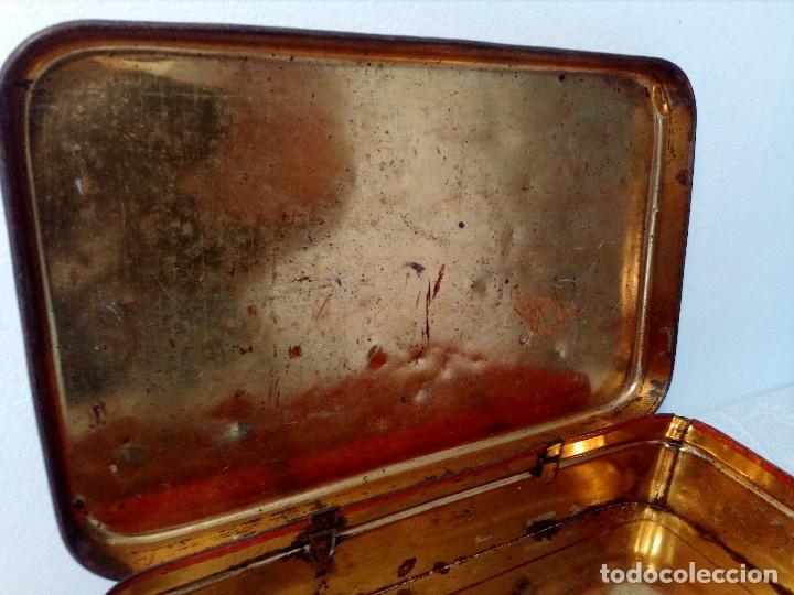 Cajas y cajitas metálicas: CAJA METALICA EL EXPLORADOR LOGROÑO PASTILLAS DE CAFÉ Y LECHE (MANUEL MUGABURU LOGROÑO) - Foto 9 - 151606390