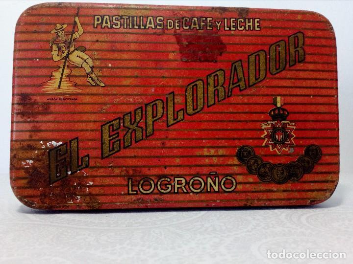 Cajas y cajitas metálicas: CAJA METALICA EL EXPLORADOR LOGROÑO PASTILLAS DE CAFÉ Y LECHE (MANUEL MUGABURU LOGROÑO) - Foto 10 - 151606390