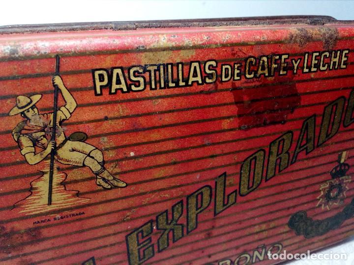 Cajas y cajitas metálicas: CAJA METALICA EL EXPLORADOR LOGROÑO PASTILLAS DE CAFÉ Y LECHE (MANUEL MUGABURU LOGROÑO) - Foto 13 - 151606390