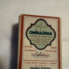 Cajas y cajitas metálicas: OMNADINA AMPOLLAS,ANTIGUO MEDICAMENTO(CAJA VACIA). Lote 152429752