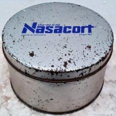 Cajas y cajitas metálicas: CAJA DE LATA NASACORT. AÑOS 80 . Lote 152496086