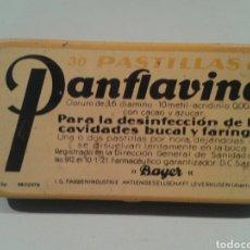 Cajas y cajitas metálicas: BONITA CAJA DE PANFLAVINA. PARA LA DESINFECCIÓN DE LAS CAVIDADES BUCAL Y FARÍNGEA. BAYER.. Lote 152562624