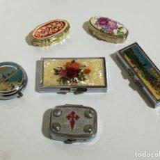 Cajas y cajitas metálicas: LOTE DE 6 PASTILLEROS. Lote 152576566