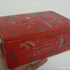 Cajas y cajitas metálicas: CAJA DE METAL DE COLA-CAO : LABORES .. Lote 152601762