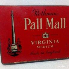 Cajas y cajitas metálicas: PALL MALL (ROTHMANS) CAJA METÁLICA DE CIGARRILLOS MADE IN ENGLAND. Lote 233523720