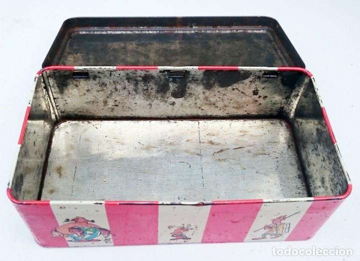 Cajas y cajitas metálicas: CAJA VACIA DE BIZCOCHOS CHAMONIX ORANGE CON ASTERIX Y OBELIX - Foto 5 - 152803394