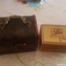 Cajas y cajitas metálicas: LOTE 2 CAJITAS DE MADERA. Lote 153083836
