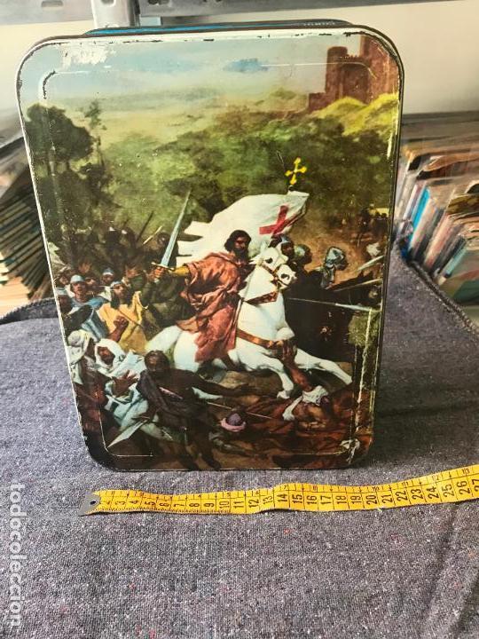 DULCE DE MEMBRILLO.CAJA.CAJA METALICA.ANTIGUA.1967.PUENTE GENIL. (Coleccionismo - Cajas y Cajitas Metálicas)