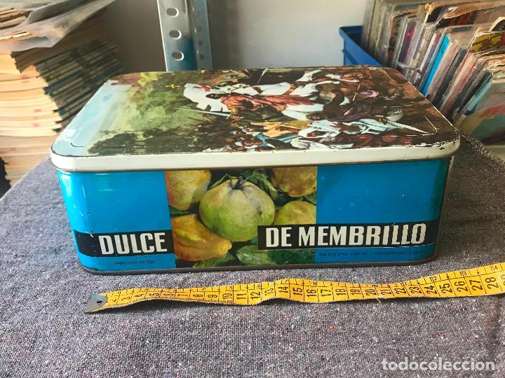 Cajas y cajitas metálicas: DULCE DE MEMBRILLO.CAJA.CAJA METALICA.ANTIGUA.1967.PUENTE GENIL. - Foto 2 - 153236194