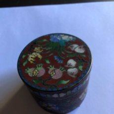 Cajas y cajitas metálicas: BONITA CAJITA CHINA CON ESMALTE CLOISSONE. Lote 153657866