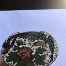Cajas y cajitas metálicas: BONITA CAJITA CHINA CON ESMALTE CLOISSONE. Lote 153658282